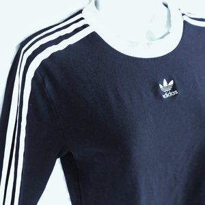 Adidas Long Sleeve Embroidered Trifoil 3 Stripes